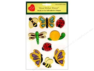 Lara&#39;s Painted Wood Stickers Bugs