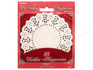 "Unique Craft & Hobbies: Unique Doilies Round 4.5"" 48 pc"