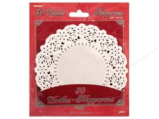 "Baking Supplies Home Decor: Unique Doilies Round 5.5"" 40 pc"