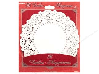 "Unique Craft & Hobbies: Unique Doilies Round 6.5"" 36 pc"