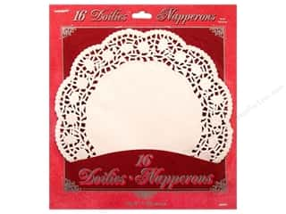 "Unique Craft & Hobbies: Unique Doilies Round 10.5"" 16 pc"