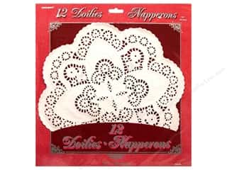 "Unique: Unique Doilies Round 12"" 12 pc"