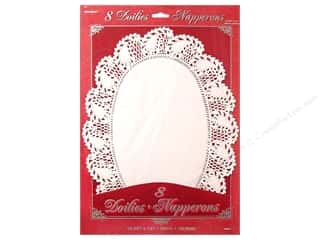 Unique: Unique Doilies Oval White 8 pc