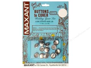 Maxant Button & Supply Buckles: Maxant Cover Button Refill Size 20