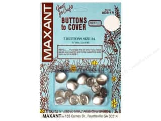 Maxant Button & Supply Buckles: Maxant Cover Button Refill Size 24