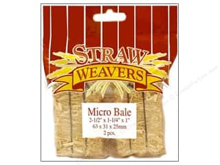 "Floracraft 12"": FloraCraft Straw Bales 2 1/2 x 1 1/4 x 1 in. 2 pc"