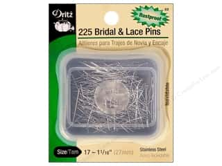 Dritz Pins Bridal & Lace Size 17 Stainless Steel 225pc