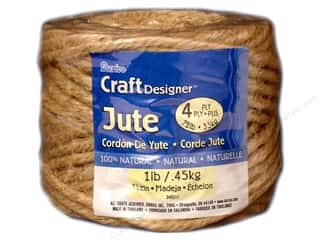 Gift Wrap & Tags: Darice Jute 4 Ply Natural 1lb/45yd
