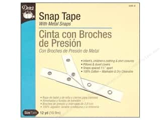Dritz Snap Tape 12 yd Nickel on Cotton Tape (12 yards)