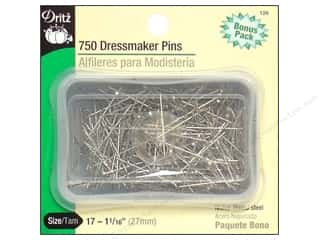 straight pins: Dressmaker Pins by Dritz Size 17 Steel 750pc.