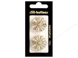 Dill Buttons 25mm Shank Gold 2 pc