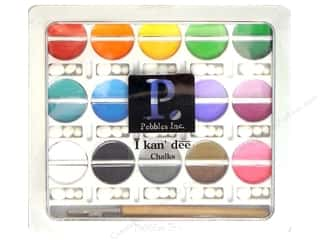 Chalk Black: Pebbles Chalk Set Basic Bright