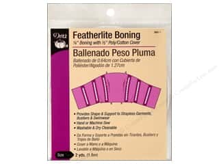 Boning / Stays: Featherlite Boning by Dritz 1/4 in x  2 yd