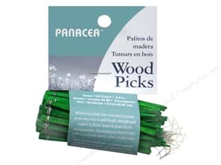 "Floral Supplies: Panacea Floral Supplies Wired Wood Pick 2.5"" 60pc"