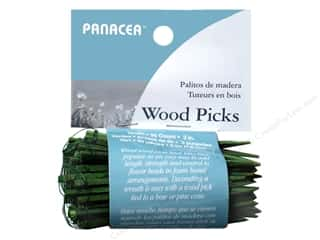 "Panacea Floral Wired Wood Pick 3"" 90pc"