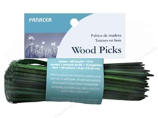 "Panacea Floral Wired Wood Pick 6"" 60pc"