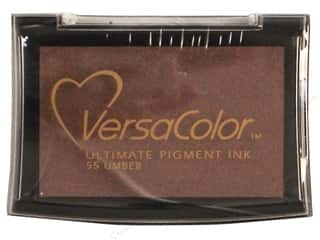 Tsukineko Brown: Tsukineko VersaColor Large Pigment Ink Stamp Pad Umber