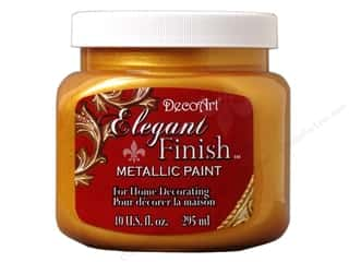 DecoArt Elegant Finish Paint: DecoArt Elegant Finish Paint 10oz Mtlc Emprr Gold