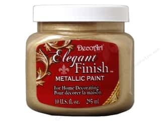 DecoArt Elegant Finish Paint 10oz: DecoArt Elegant Finish Paint 10oz Mtlc Champagne Gold