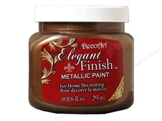 DecoArt Elegant Finish Paint 10oz: DecoArt Elegant Finish Paint 10oz Mtlc Rich Espresso