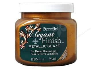 DecoArt Elegant Finish Paint: DecoArt Elegant Finish Glaze 10oz Mtlc Medvl Gold