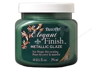 DecoArt Elegant Finish Paint 10oz: DecoArt Elegant Finish Glaze10oz Mtlc Olde Patina