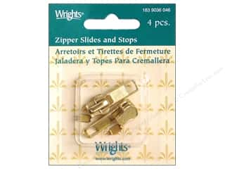 Zippers: Wrights Zipper Pull Slide&Stop # 5 Zipper Chain
