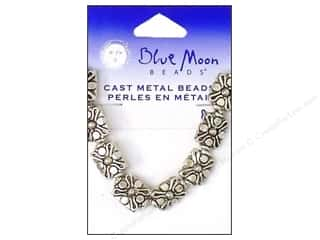 Beading & Jewelry Making Supplies: Blue Moon Beads Metal Cross Dotted Silver 8pc