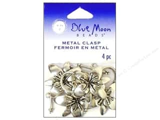 Blue Moon Clasps Toggle Flower Silver 4pc