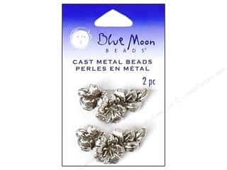 Blue Moon Beads Metal Flower 2 Hole Silvr 2pc