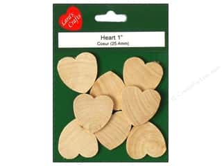 "Lara's Wood Heart 1""x 1""x 1/8"" 8 pc"