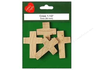 Lara&#39;s Wood Cross 1 3/16&quot;x 1 5/8&quot; 4 pc