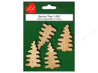 "Lara's Wood Tree Mini Spruce 1""x 1 5/8"" 4 pc"