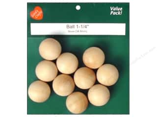 wood round ball: Lara's Wood Ball Value Pack 1 1/4 in. 10 pc.