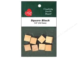 Wood Burning $8 - $12: Lara's Wood Square Block 1/2 in. 8 pc.