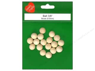 "Lara's Wood Round Ball 3/8"" 18 pc"