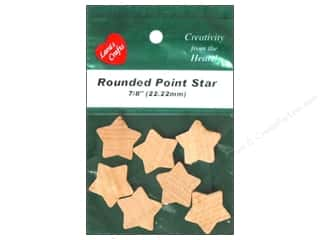"Lara's Wood Star Rounded 7/8"" 7 pc"