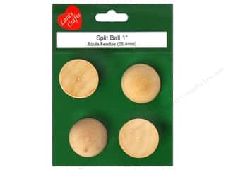 "Lara's Wood Half Ball 1"" 4 pc"
