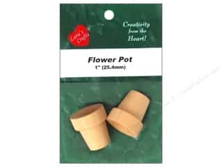 "Lara's Wood Flower Pot 1""x 1 1/16"" 2 pc"
