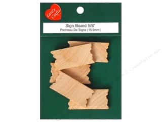 Lara's Wood Shapes: Lara's Wood Mini Sign Board 5/8 in. 5 pc.