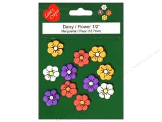 "Pre-Painted Wood: Lara's Painted Wood Micro 1/2"" Daisy 11 pc"