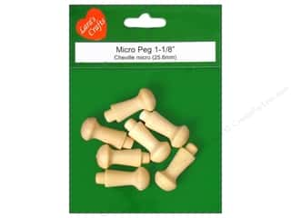 Lara's Wood Micro Peg 1 1/8 in. 7 pc.