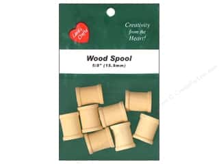 "Lara's Wood Spool 5/8""x 3/4"" 8 pc"