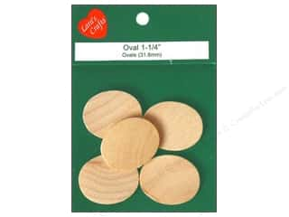 "Lara's Wood Oval 1 1/4""x 1"" 5 pc"