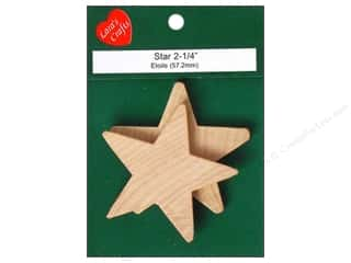"Lara's Wood Star Large 2 1/4"" 2 pc"