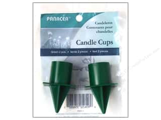 Candle Making Supplies Soapmaking: Panacea Candle Cup with Spike Green