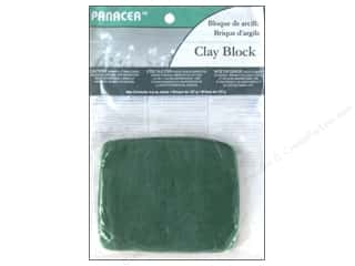 Clay Floral Clay: Panacea Floral Supplies Sticky Clay Block 4.5oz Green