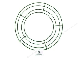 "Floral & Garden 10"": Panacea Box Wire Wreath Frame 10 in. Green (10 pieces)"