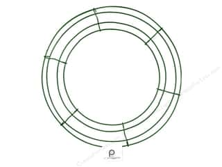 Floral & Garden Christmas: Panacea Box Wire Wreath Frame 12 in. Green (10 pieces)