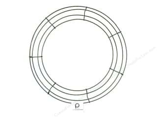 Floral & Garden Wire: Panacea Box Wire Wreath Frame 14 in. Green (10 pieces)